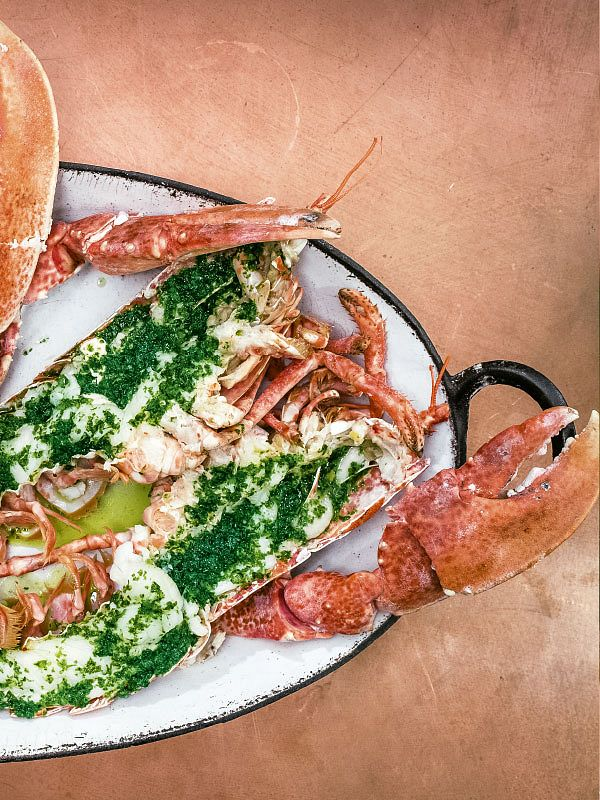Distinctly British food revolving around quality meat and seafood