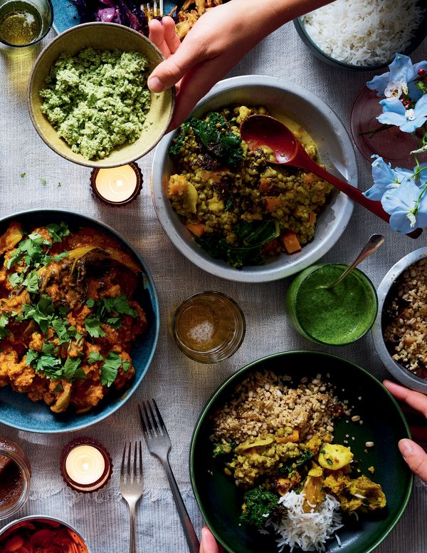 A collection of curry house-inspired recipes for vegans