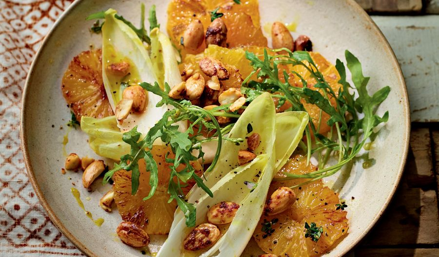 Charred Orange and Spiced Almond Salad | Ainsley Harriott ITV Mediterranean Cookbook