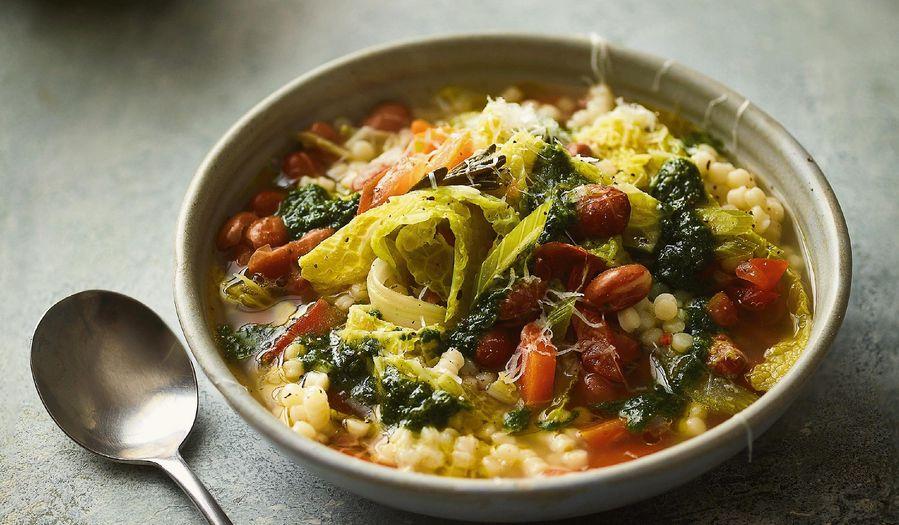 Minestrone Soup Recipe | Ainsley Harriott Mediterranean Cookbook
