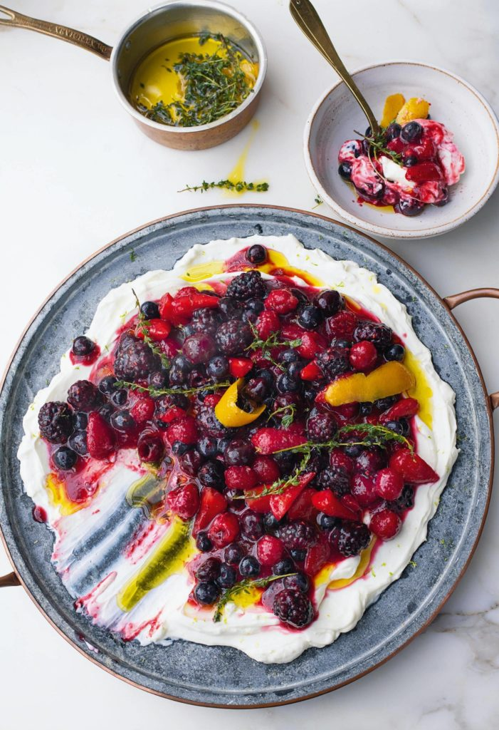 Berry Platter with Sheep's Labneh