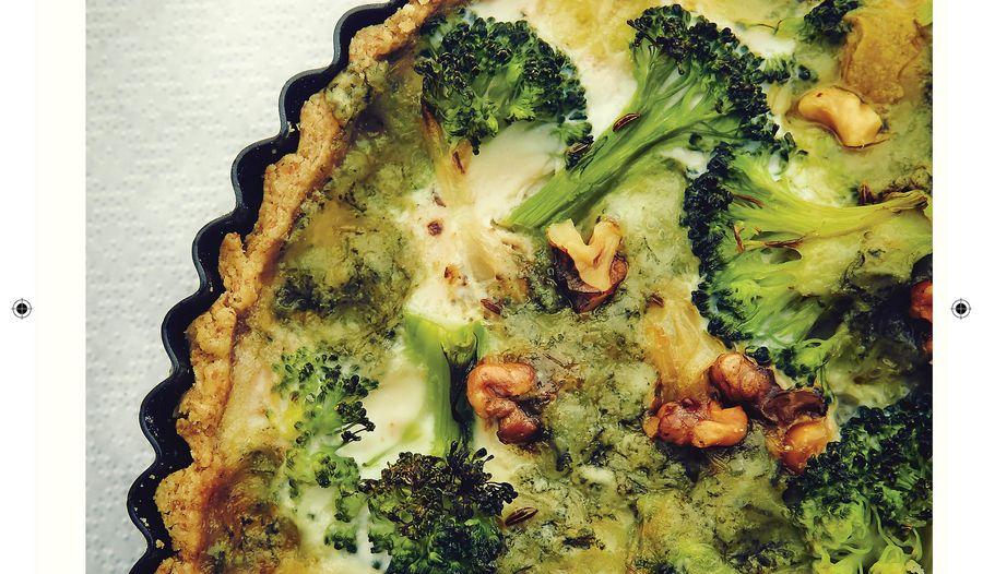 Broccoli and Gorgonzola Quiche