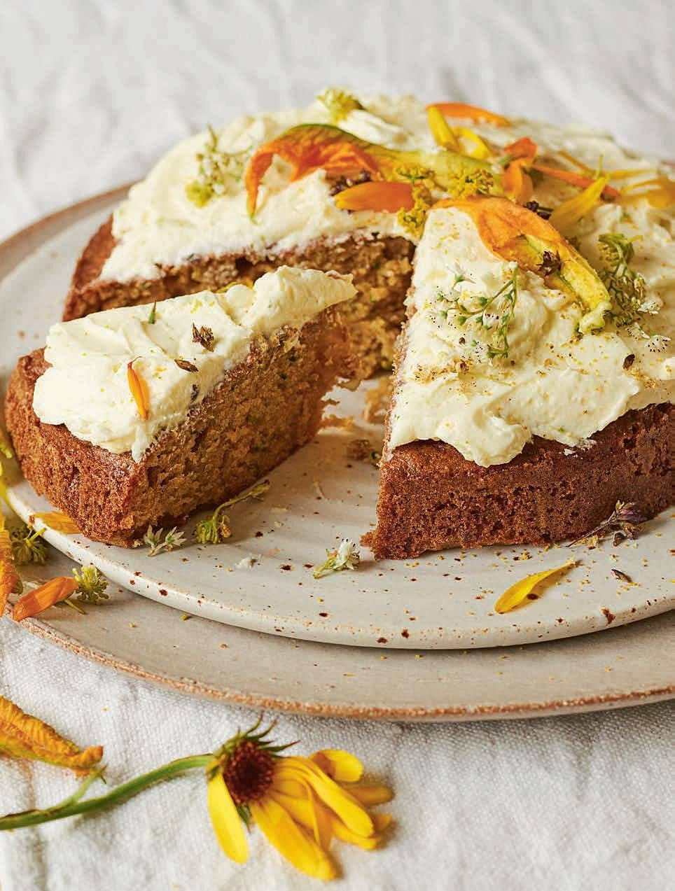 Courgette Cake with Lime Buttercream