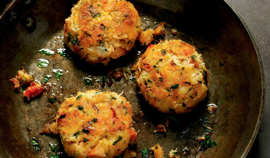 Maryland Crab Cakes with a Tarragon and Butter Sauce