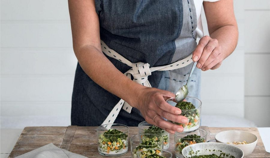Crunchy Vegetable 'Tabbouleh' with Coconut Cream & Herb Dressing from Cook. Nourish. Glow.