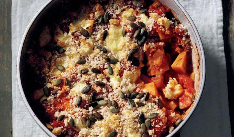 Sweet Potato Cheesy Bake | Comforting One Pot Dinners