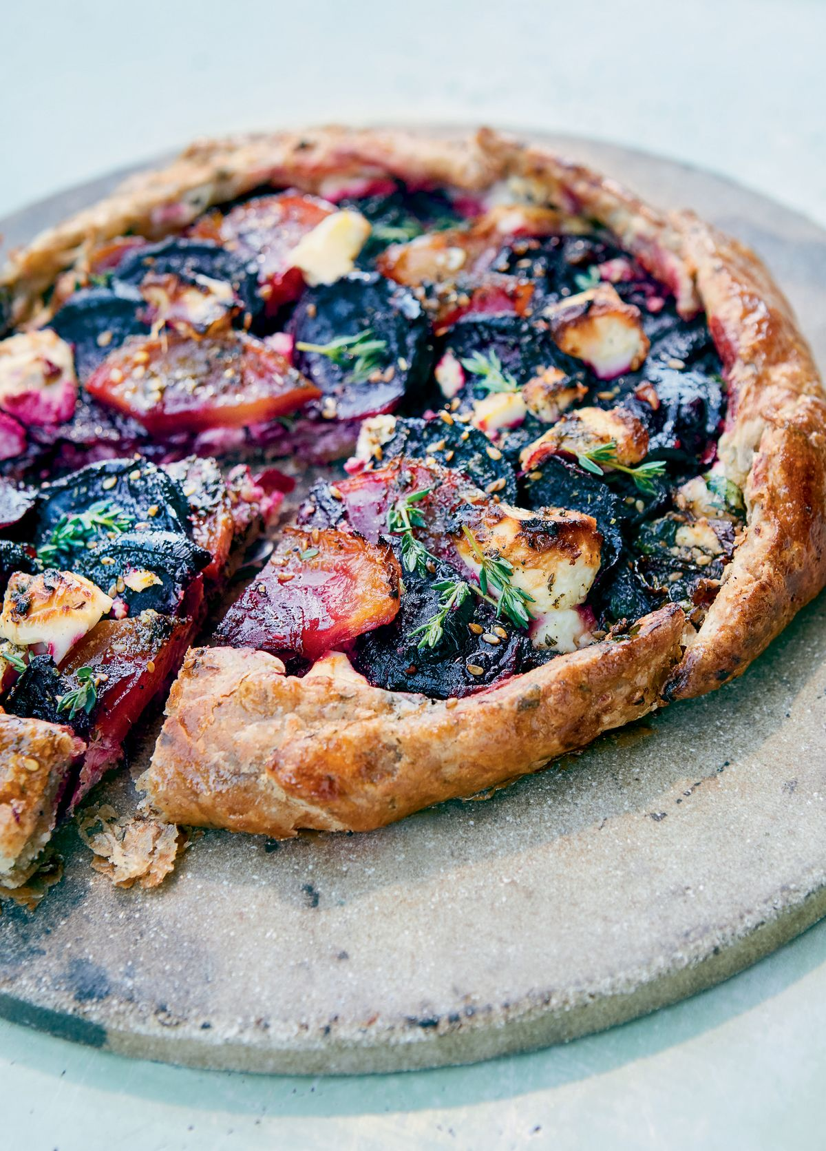 Beetroot and Feta Galette with Za'atar and Honey
