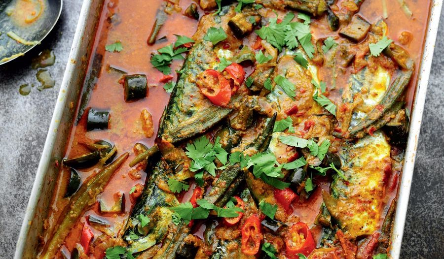 Malaysian-inspired Fish Curry with Tomato and Okra