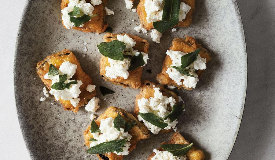 Deep Fried Aubergine with Ricotta and Sage | Starter recipe