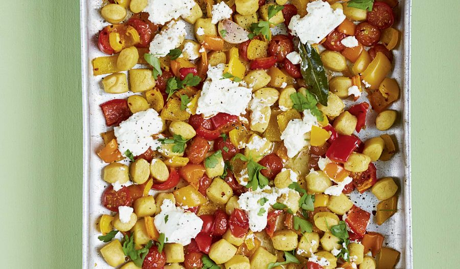 Crispy Gnocchi with Roasted Peppers