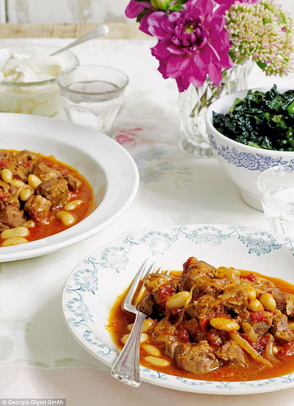 Harissa Spiced Lamb with Cannellini Beans