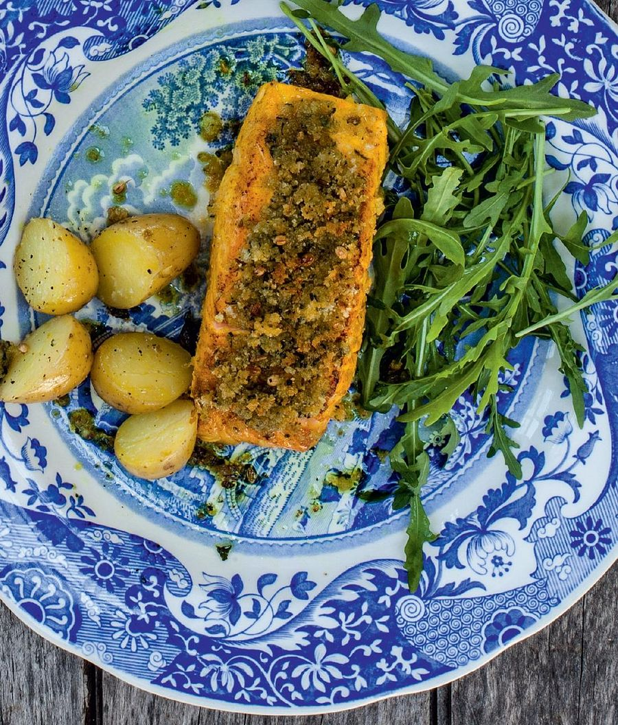 Cyrus's Indian Herb-Crusted Salmon