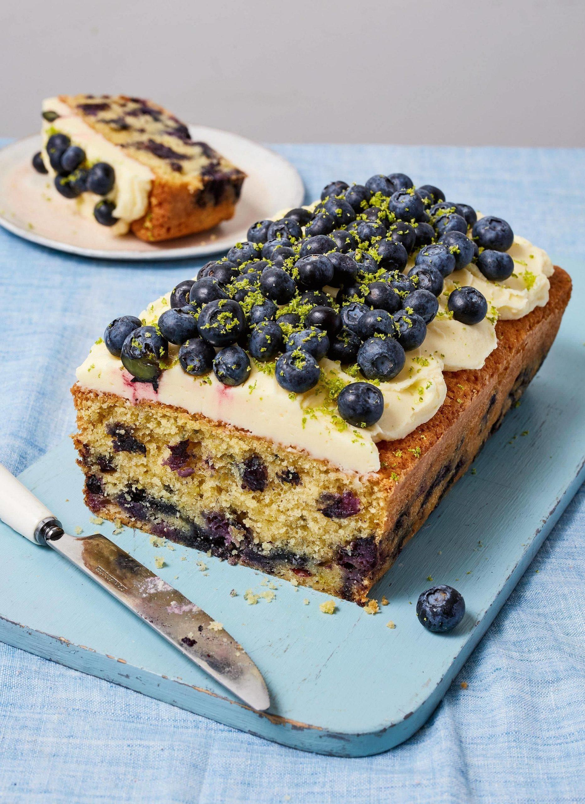 Lime Blueberry loaf Cake