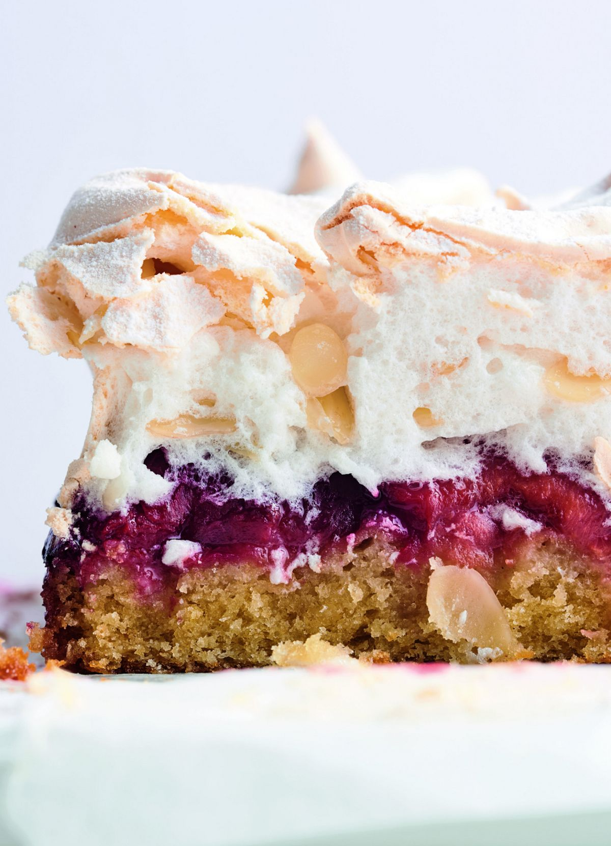 Louise Cake with Plum and Coconut