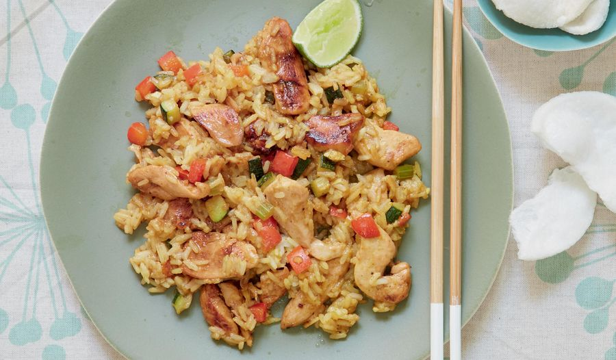 Panang Chicken and Rice Stir-fry | BBC2 Mary Berry Everyday