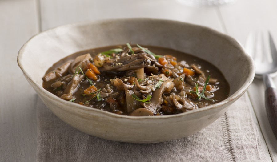 Meaty Mushroom Stew from the Plant Based Cookbook