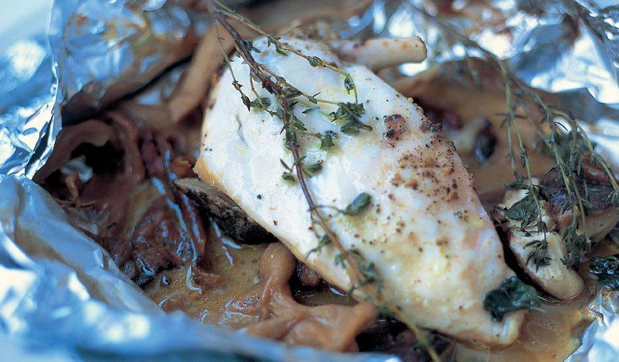 Jamie Oliver's Baked Chicken with Mushrooms