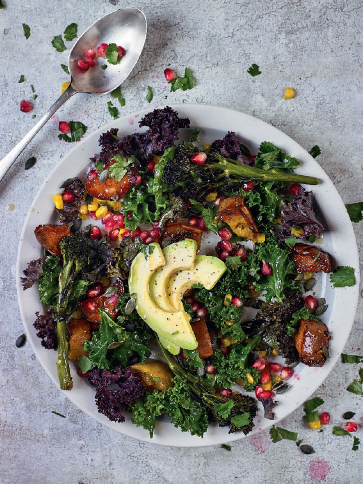 Superfood Salad with Miso and Tahini Dressing