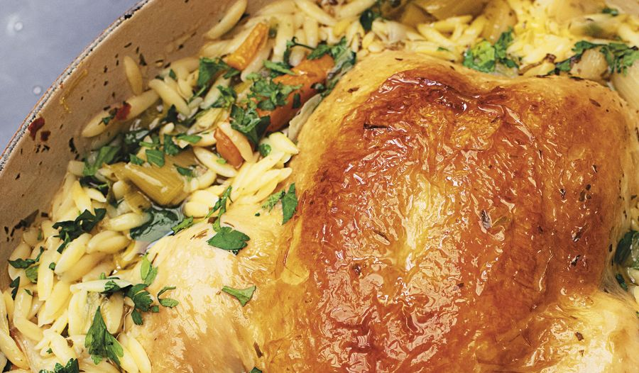 Nigella Lawson's Chicken in a Pot with Lemon and Orzo | Cook