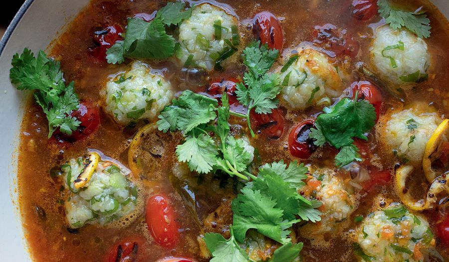 Sticky Rice Balls in Tamarind Rasam Broth | Ottolenghi FLAVOUR