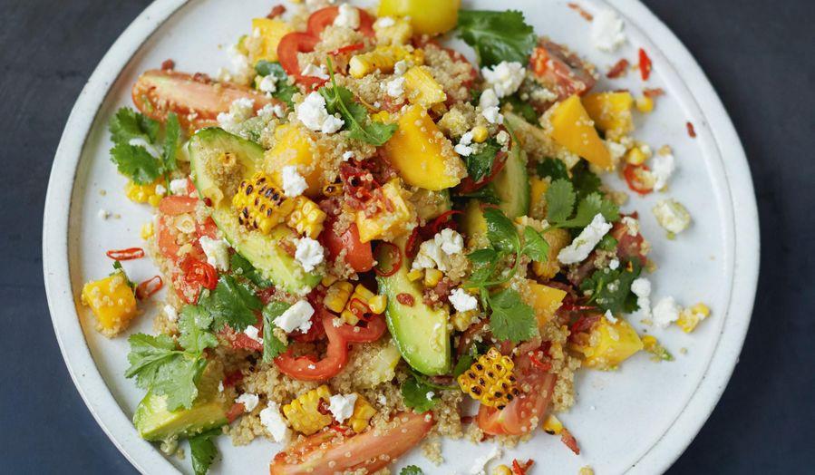 Grilled Corn and Quinoa Salad Mango