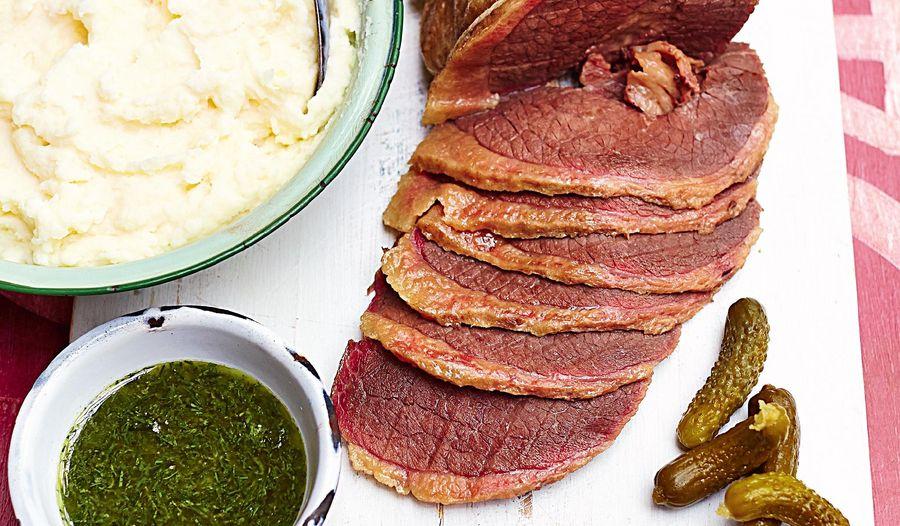 Salt Beef with Horseradish Mash