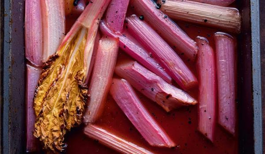 Ottolenghi's Baked Rhubarb and Labneh Recipe | Plenty More