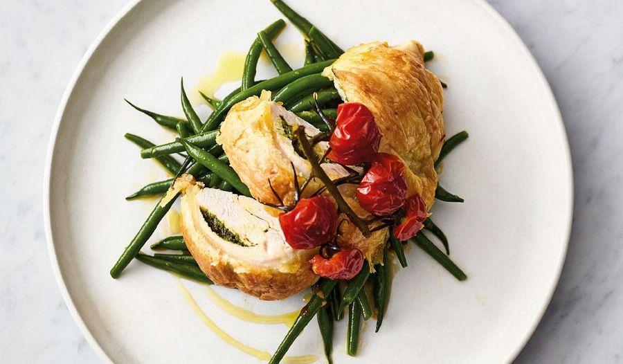 Jamie Oliver's 5 Ingredient Flaky Pastry Pesto Chicken Recipe