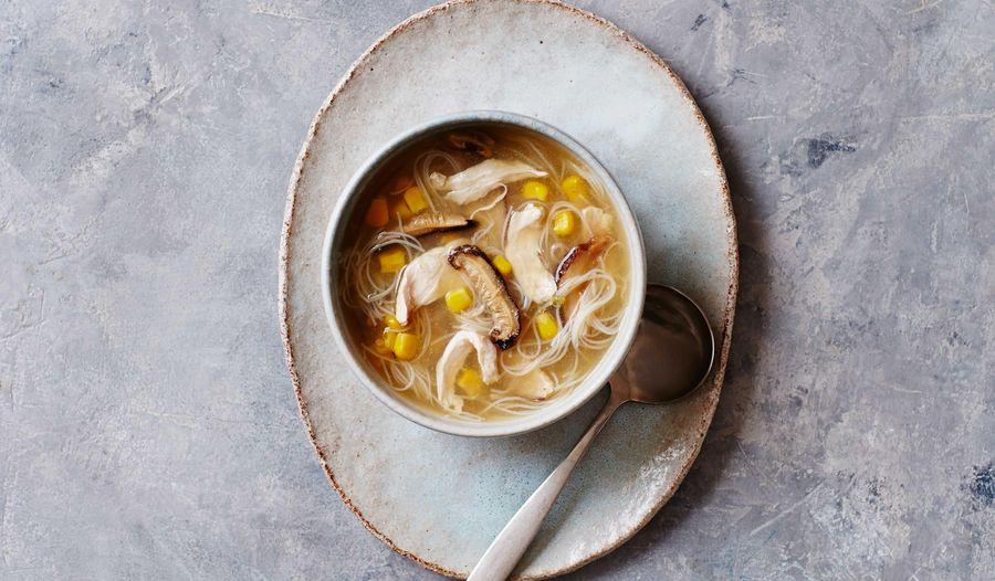 Chicken & Mushroom Noodle Soup | Easy Broth Recipe