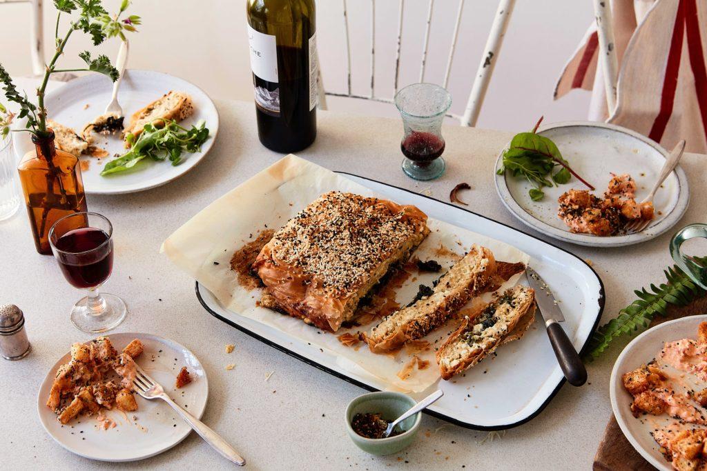 Spinach & Feta Filo Pie Recipe | Vegetarian Dinner Party Main Course Idea