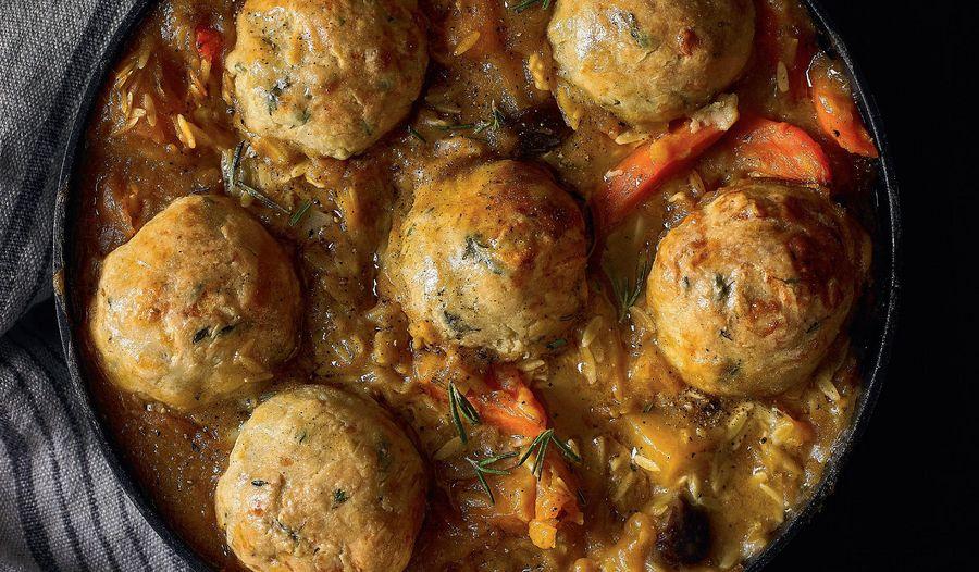 Winter Veggie Stew with Wholesome Lumpy Dumplings