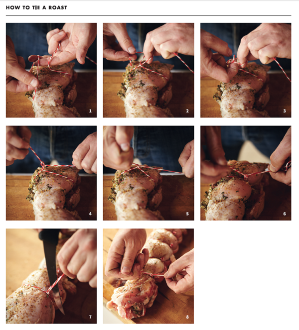 How to Tie Meat   Instructions