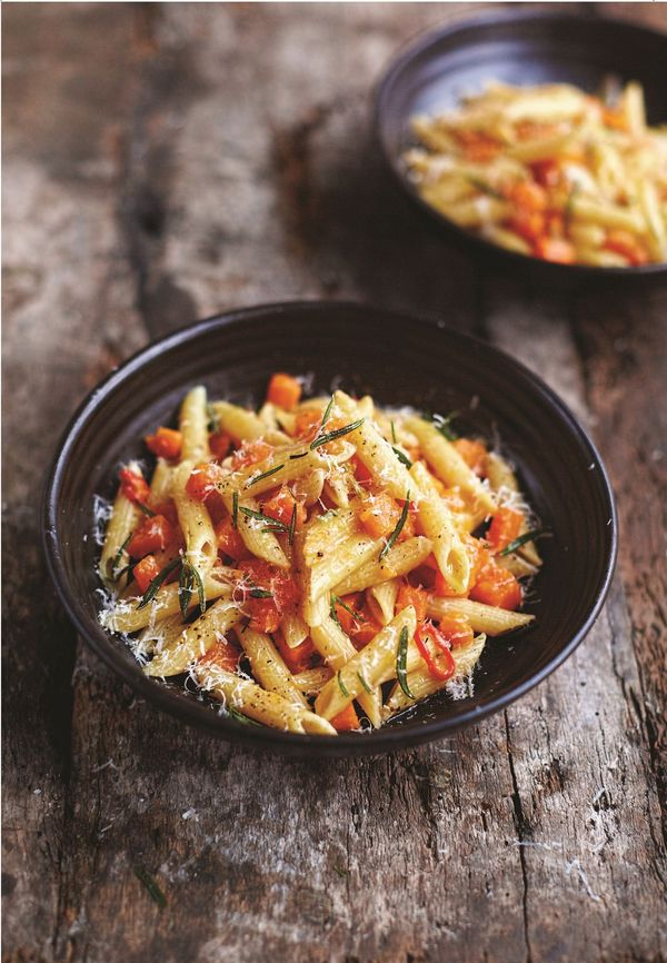 Butternut Squash and Pancetta Penne   Easy Midweek Meal