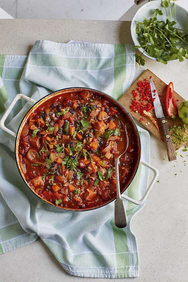 eat well for less bbc ham and black bean stew