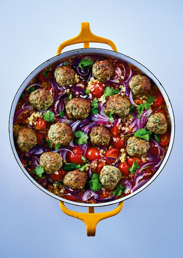 Middle Eastern Lamb Meatballs   The Roasting Tin Around the World