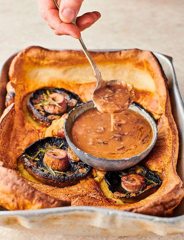 Jamie Oliver's best vegetarian Christmas recipes mushroom toad in the hole jamie 7 ways
