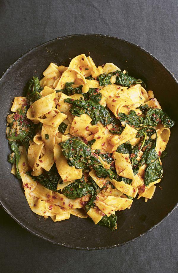 Nigella Lawson Pappardelle with Cavolo Nero and 'Nduja BBC2 Cook, Eat, Repeat