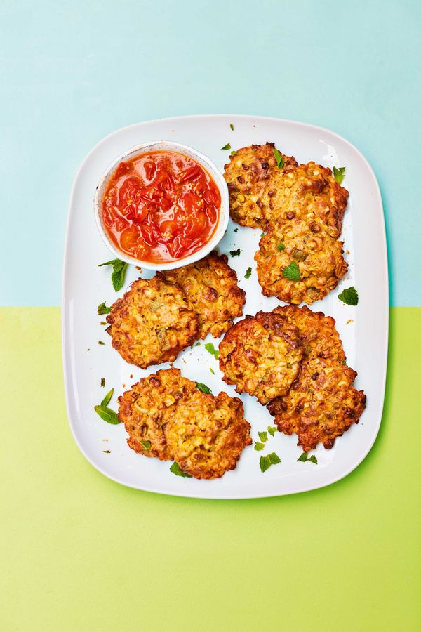 Easy Vegetarian Barbecue Recipe   Sweetcorn Fritters