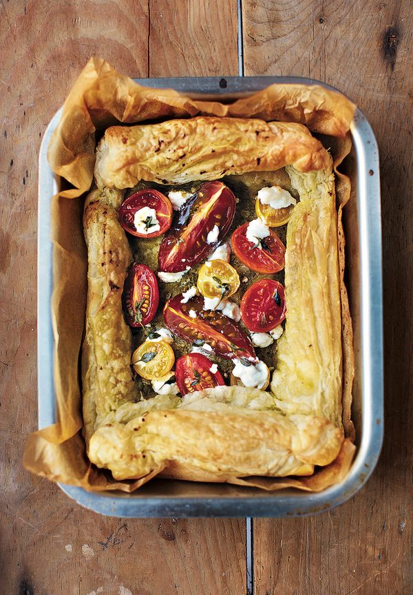working from home lunch recipes tomato pesto goats cheese tart little book of lunch