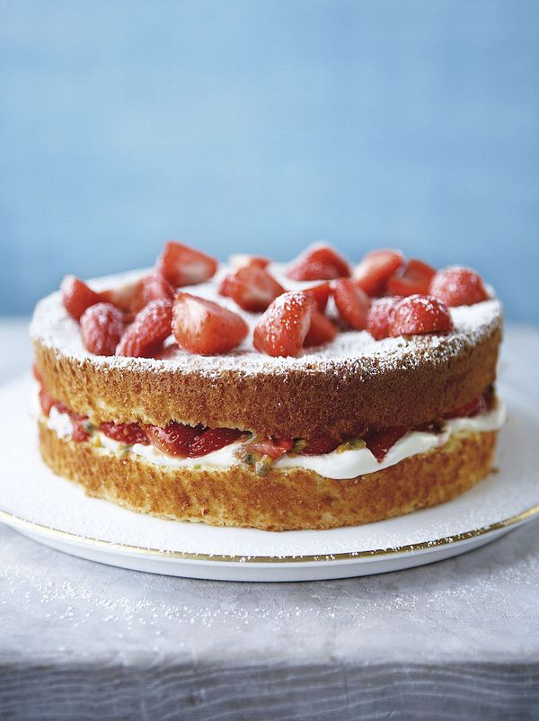 10 recipes you'll love in Mary Berry's Baking Bible wimbledon cake strawberries